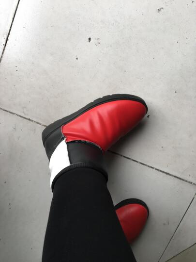 艾朵乐新款韩版冬季休闲平底雪地靴保暖加厚防水女靴 红色 40 晒单图