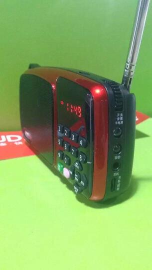 先科 收音机MP3插卡音箱便携式迷你音乐播放器外放 老人小音响低音炮广场舞老年随身听唱戏机 迷人红+8G卡+送3000首歌曲+点歌本 晒单图
