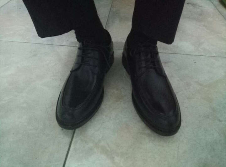 奥康男鞋新款皮鞋春季青年工作结婚商务休闲鞋男系带头层牛皮舒适正装鞋镂空透气凉鞋男 凉鞋 黑色 365518003 46 晒单图