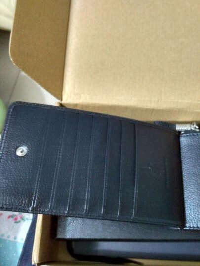 英皇保罗防盗刷卡包男士钱包长款多卡位皮夹头层牛皮拉链卡夹大容量钱夹 纯黑色软皮 晒单图