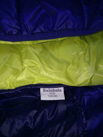 巴拉巴拉童装男童女童羽绒服中大童上衣冬装新款儿童轻薄羽绒外套 柠檬黄 160 晒单图