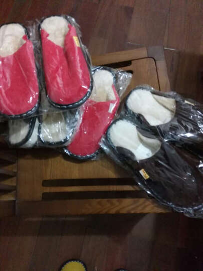 清仓9.9包邮棉拖鞋特价冬季家居情侣保暖拖鞋 男女款居家包跟拖鞋E7503 蓝色 270建议39-40码脚穿 晒单图