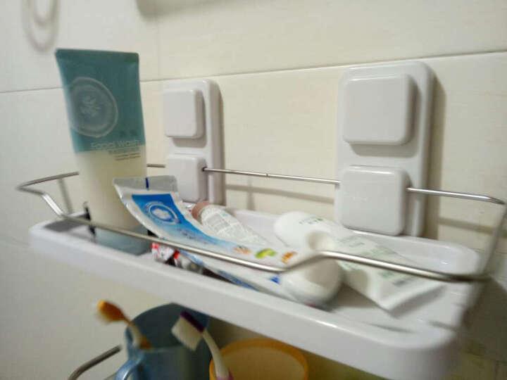访客  浴室置物架 吸盘式卫生间置物架 洗手间厨房多功能收纳储物架 厕所置物壁挂架 顶天立地单杆晾衣架-象牙白色 晒单图