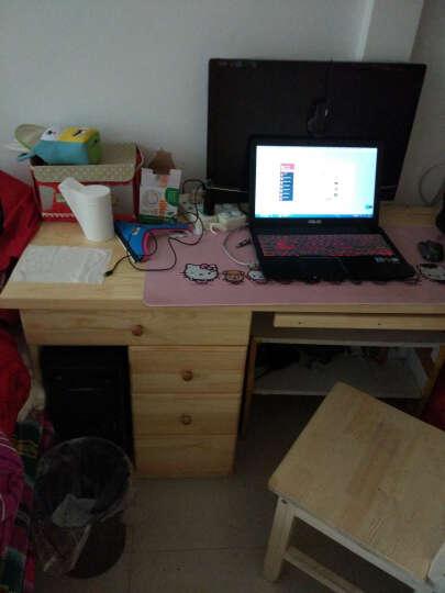 雅霏--台式电脑桌 简易书桌 简易办公桌组合 书柜书架电脑桌 写字台 B+书柜C+三抽屉清漆 晒单图