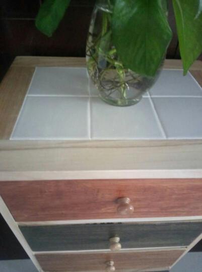 实木五斗柜卧室现代简约 彩色组合抽屉柜床头柜 CS-4 晒单图