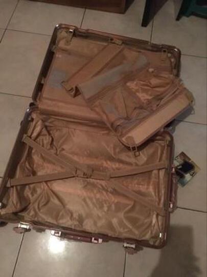 igtt行李箱万向轮旅行箱男26寸新品铝框密码箱登机箱20寸拉杆箱女24寸学生皮箱防刮包角 玫瑰金(高端防刮款) 24 晒单图