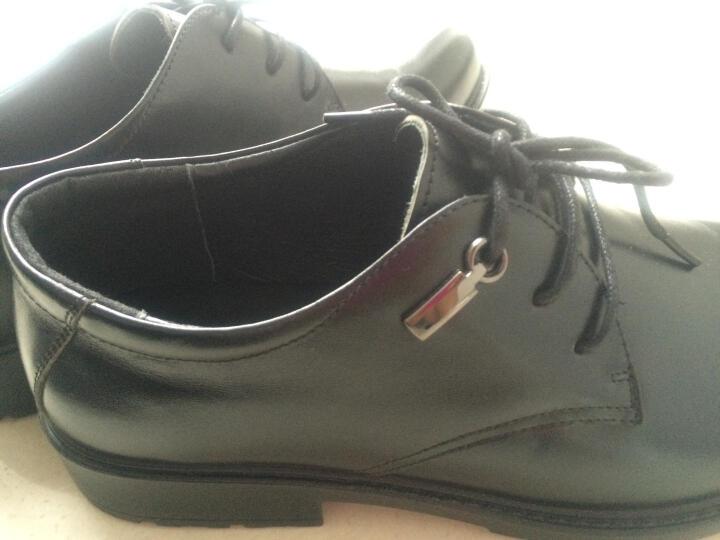 奥康皮鞋 春季新品商务休闲鞋系带正装鞋英伦风内增高男士皮鞋真皮结婚鞋子男 棕色加绒 42 晒单图
