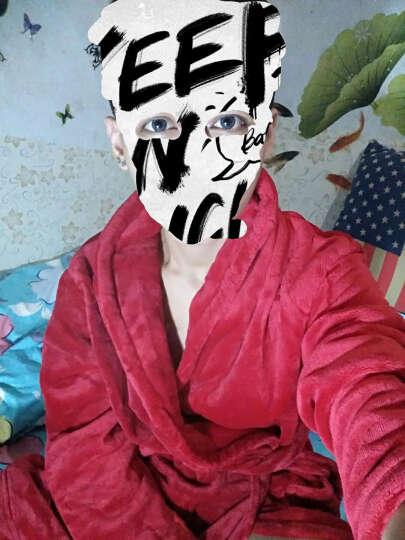 琼瑛浴袍春秋冬男女珊瑚绒加厚情侣睡袍法兰绒睡衣 女款玫红单件 XXL建议体重150-200斤 晒单图