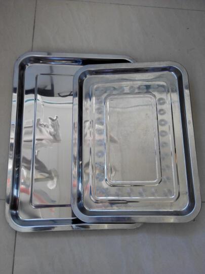 拜杰(Baijie)不锈钢托盘 烧烤托盘 烤鱼盘 30*40*4.8 晒单图