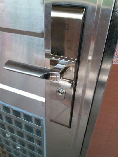 质胜 超D级叶片锁芯防盗门锁套装12把钥匙大门不锈钢拉手把手锁具 前固型方舌+升级D级12把钥匙 请备注好测量尺寸 晒单图