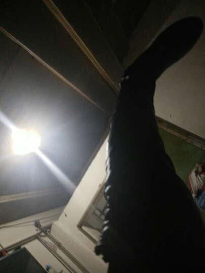 2019春季短靴女鞋纯色防水台时装靴 粗跟高跟女靴子女 后拉链时尚过膝长靴 冬季保暖长靴 6166黑色 38 晒单图