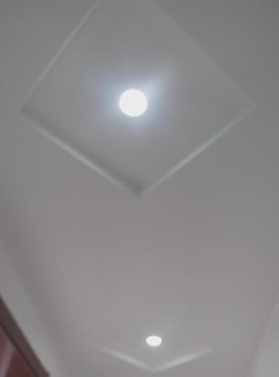 简旭 LED筒灯3Wled射灯三色变光筒灯孔灯天花灯开孔7-8公分【加厚全铝】 烤漆白-白 晒单图
