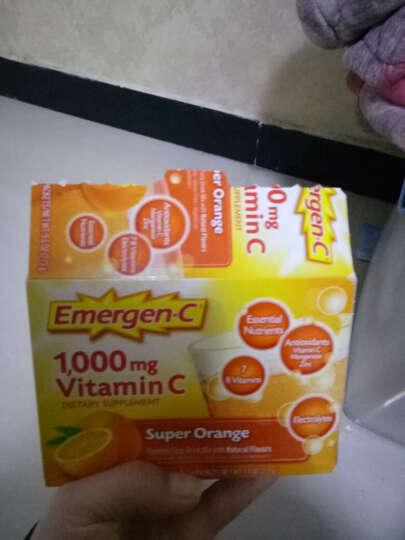 Emergen-C维生素C粉VC饮料儿童成人 美白粉泡腾冲剂增强抵抗力美国进口 5盒 橘子味 晒单图