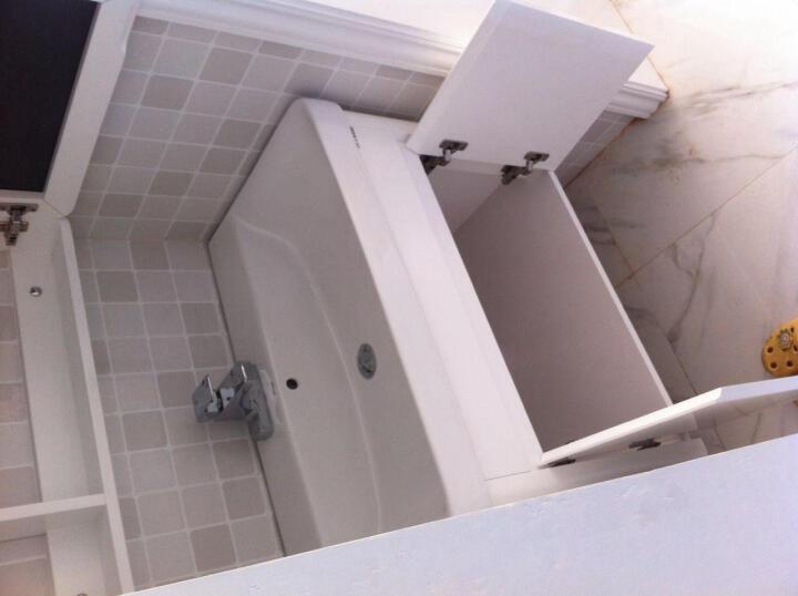 安华浴室柜组合套装实木橡木吊柜(洗手洗脸盆镜柜3396/80cm) 配抽拉0905龙头97001928 晒单图