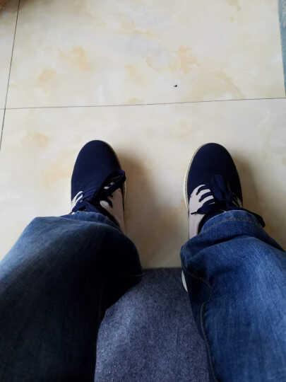 公牛部落隐形内增高鞋男增高6-8cm公分真 小码皮鞋英伦休闲板鞋春夏款37-43码 深蓝/米白 42皮鞋码 晒单图