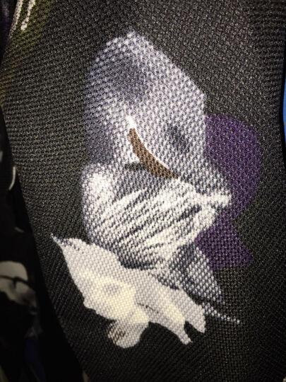 C2潮朝2018秋装韩版中长款风衣外套男修身英伦印花薄款中长款披风男发型师潮牌西装大衣 白色 M 晒单图