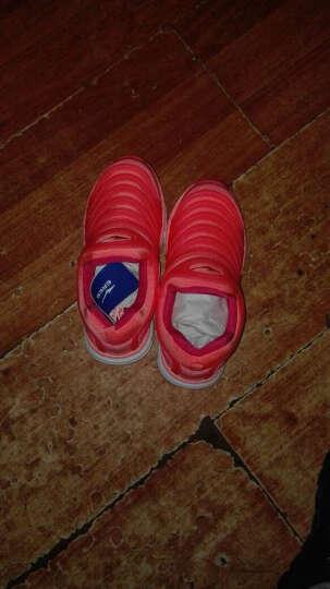 鸿星尔克ERKE男女童鞋儿童运动鞋中大童毛毛虫舒适易弯曲仿生一脚蹬休闲鞋一脚套跑步鞋 桔红/彩蓝 35 晒单图