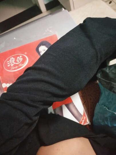 浪莎(LangSha)3条装秋冬款连裤袜120D天鹅绒中厚加档打底连裤袜 【冬款加绒加厚】黑色*3 单双装 晒单图