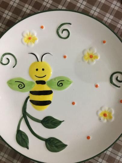 卡通面碗盘子礼品套装3d手绘动物