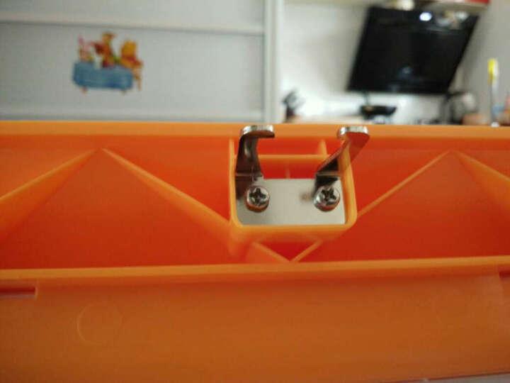 七彩格子 塑料收纳箱大号 储物箱客厅卧室宿舍整理箱置物箱子玩具衣服收纳盒 密码锁汽车收纳箱中小号 橙色 78L 晒单图