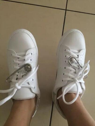 Daphne/达芙妮新款圆头小白鞋潮流单鞋休闲鞋1516404040 金色 39 晒单图