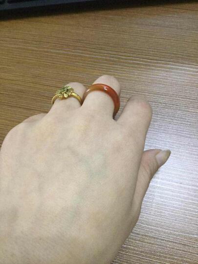 【爱在母亲节】玉人香  玛瑙戒指男女款指环玉器戒指玉石指环 多色玉髓戒指 宽白色 直径约18mm 晒单图