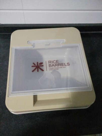 老爹(OldPAPA) 韩式米桶储米箱 10KG米缸防虫防潮塑料装米桶有盖面粉桶20斤 绿色-韩式10kg 晒单图
