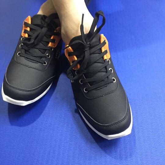 卡帝乐鳄鱼(CARTELO)男鞋休闲鞋男士单鞋子 男夏季网布透气板鞋 男运动休闲户外乐福鞋 蓝色 42码 晒单图