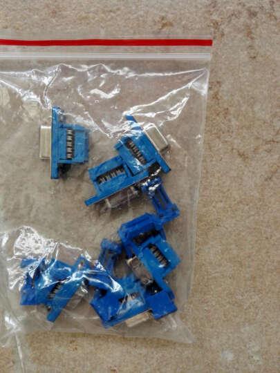 云野 串口座DB9 直孔 双排 蓝胶 母头压线式 连接器D型 接插件(一个) 晒单图
