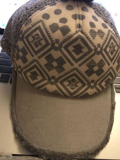 2015新款女士花纹拼接绒毛运动休闲帽