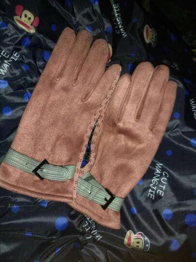 外滩故事触摸屏电容屏触摸 保暖时尚不倒毛手套女冬季新款 Ma-31粉色 晒单图