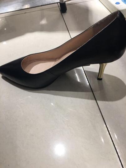 CNE 尖头复古高跟鞋细跟单鞋女羊皮高跟女鞋TCFS 6T91701 红色 RDK 38 晒单图