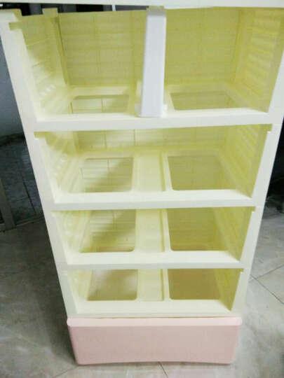 咖啡熊/KAFEE BEAR加厚收纳柜抽屉式塑料柜环保儿童宝宝衣柜斗柜整理柜储物柜收纳箱 混色 5层 晒单图