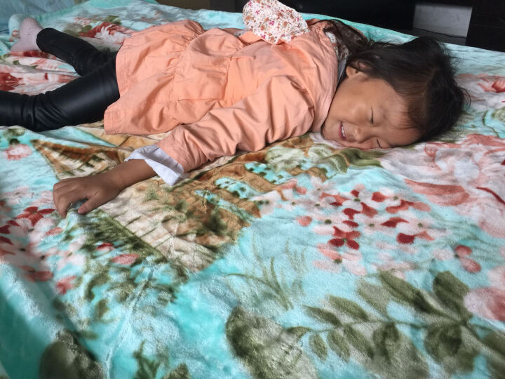 雍荣雅阁家纺双层双人拉舍尔超柔高克重毛毯子毛毯厚盖毯床单1.5米学生保暖云盖毯 彩色格纹 锁包边150*200cm4斤 晒单图