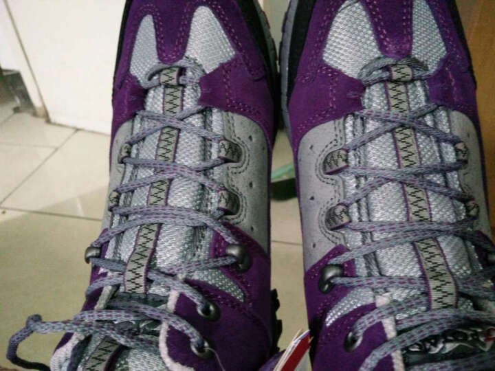 户外特工高帮户外登山鞋女情侣款防滑透气轻便徒步鞋男HP8002 灰色 39 晒单图