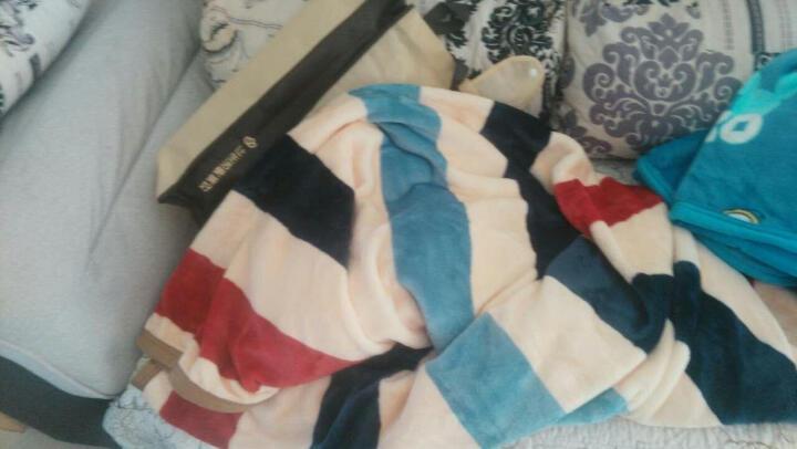 黛安居 毛毯被夏季薄办公室午睡毯子 夏天法兰绒毯学生儿童毯 空调毯床单冬季加厚款珊瑚绒午休沙发毯 青花瓷 150*200 晒单图