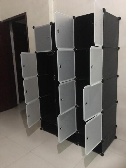 蔻丝衣柜简易组装树脂魔片衣橱折叠塑料收纳柜组合储