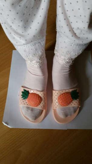 和居优品拖鞋 女式防滑浴室拖鞋凉拖鞋新款夏季儿童拖鞋夏居家鞋 菠萝/天蓝 37码 晒单图