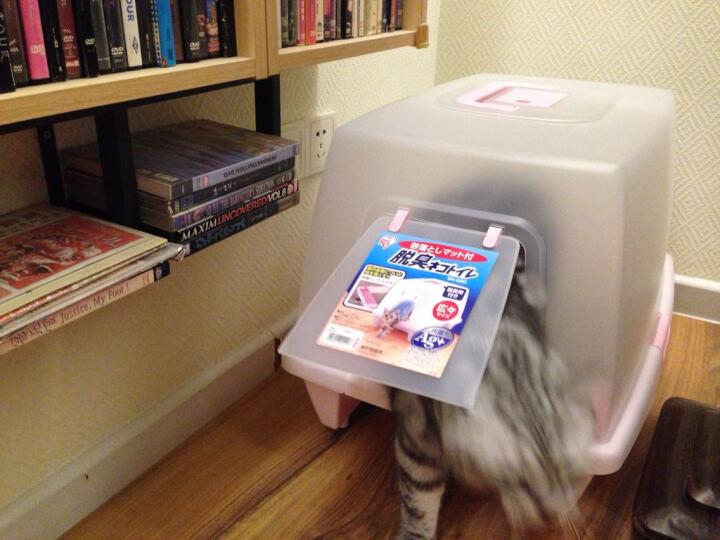 宠悦大仓 爱丽思封闭大号猫厕所SN620 大型猫咪宠物便盆 猫砂盆 茶色 晒单图