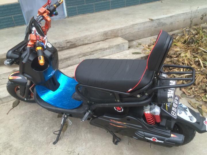 日杰(RIJIE)祖玛电动车电动摩托车电瓶车1800W72V踏板摩托车电车电摩军绿色 磨砂 黑 超威72v20A 6个电瓶 晒单图