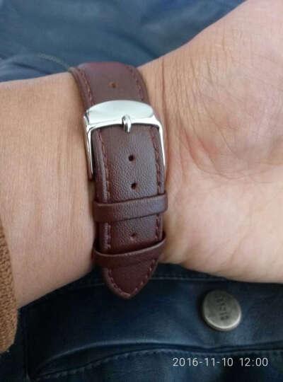 IIKTWOK手表皮带配件 男女士手表皮革表带 通用针扣手表表带 1020L--黑色-12MM 晒单图