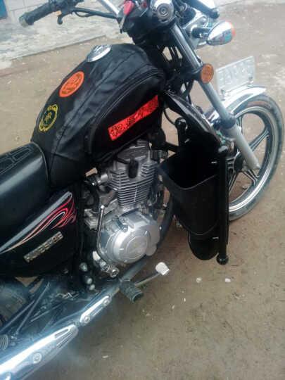 一口米摩托车保险杠 挡风板挡风杠 置物箱 骑士车125保险杠前护杠 银铁蓝色 晒单图