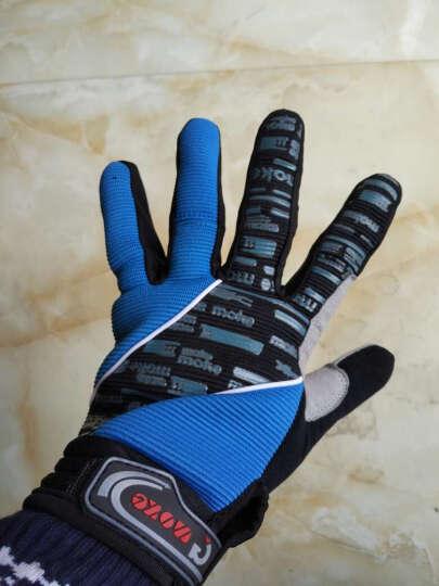 NE&CE 触屏硅胶秋冬季骑行手套全指 山地车手套长指男女 自行车手套骑行装备骑车手套 MKC长指手套(黑) XL 晒单图