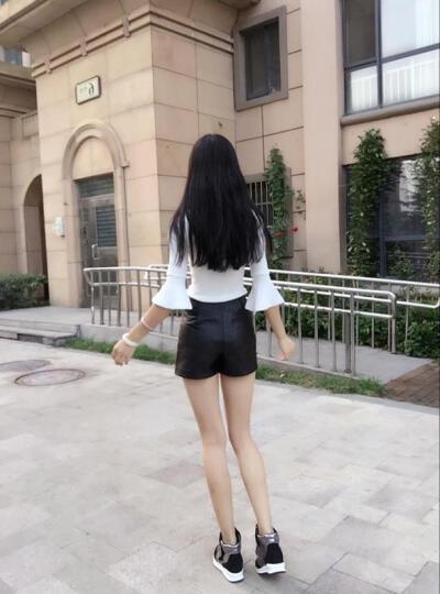 格子兮2017春夏季新款韩版网布透气舒适松糕平底运动休闲女鞋子单鞋女 灰粉 37 晒单图