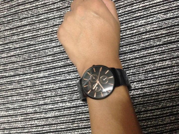 艾诺(AILUO)手表男士钢带休闲运动多功能防水男表石英情侣手表钟表 全黑黑面玫钉六针7091-1 晒单图