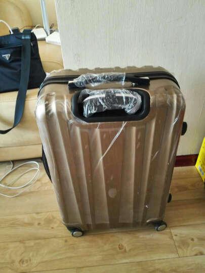 瑞士十字(SWISSWIN)拉杆箱万向轮20英寸登机箱男女24英寸旅行行李箱 银色 24英寸 晒单图