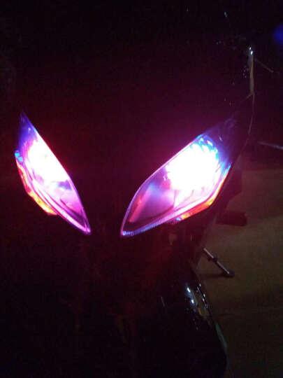 鹿途 汽摩托车灯电动车改装大灯 LED激光炮强光爆闪内置前射灯鬼火天使眼光圈高亮度远光近光 红色单天使眼光圈 晒单图