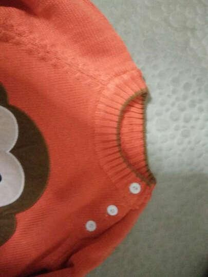 金小淘 秋冬儿童童装宝宝肩扣调皮猴柔软长袖毛衫线衣棉线男童毛衣 橘红色 90码 晒单图