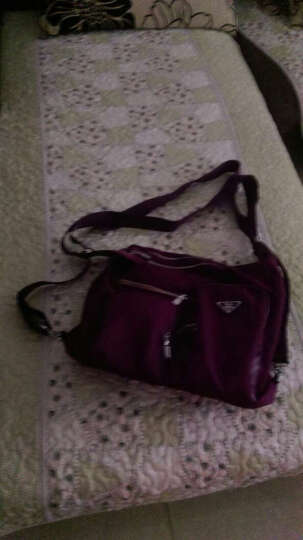 莱夫单肩包 2018春季款 女士休闲防水尼龙布 可双肩斜挎 多功能三用大容量 紫色 LF2605-1 晒单图