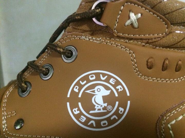 PLOVER秋冬新款休闲鞋韩版马丁靴运动休闲鞋男皮靴 棕色A12132 40 晒单图